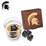 Michigan State University Etched Wine and Whiskey Stones