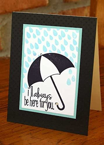 Umbrella4You Weather Sentiments Cute Umbrella Stamps for Card-Making and Scrapbooking Supplies by The Stamps of Life