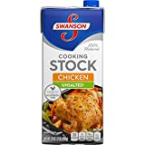 Swanson Unsalted Chicken Cooking Stock, 32 oz. Carton (Pack of 12)