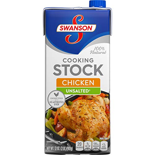 Swanson Unsalted Chicken Cooking Stock, 32 oz.  (Pack of 12)