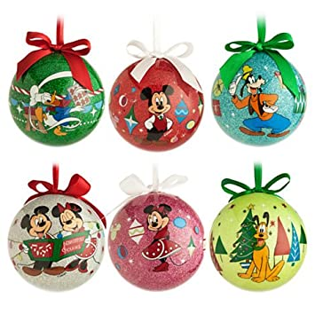amazoncom disney mickey mouse and friends dcoupage christmas ornament set home kitchen - Mickey Mouse Christmas Ornaments