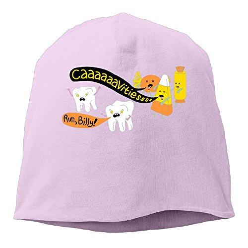 Playdough Halloween Costumes (SADCPO Halloween Dentist Jokes Unisex Cool Beanie Watch CapFashion Ski Cap Warm Slouchy Beanie Pink)
