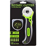 Rotary Cutter 45mm Comfort Handle With Pack of 10 Japanese Steel SKS 7 Blades