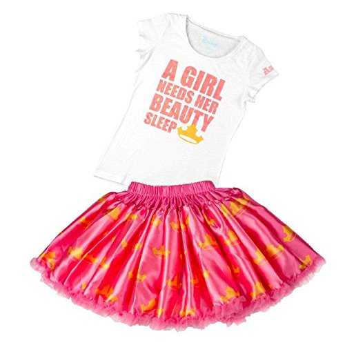 Price comparison product image Tutu Couture Girl's Disney's Aurora Tee & Pettiskirt, Pink, 6/6X