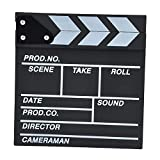 Leermart Classical Director Clapper Board Scene Clapperboard Cut Prop for TV Film Promo Videos or Fun (30 x 27cm, black)