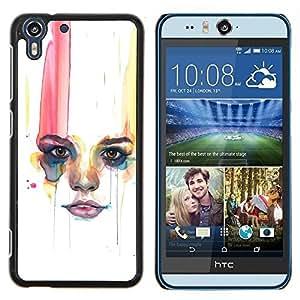 Stuss Case / Funda Carcasa protectora - Labios Mujer Minimalista - HTC Desire Eye M910x