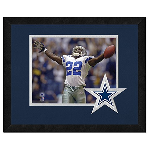 NFL Dallas Cowboys Emmitt Smith Framed Logo Mat, Blue, 13 x 16-Inch