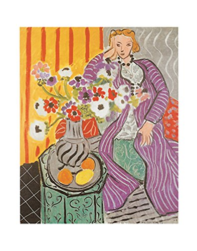 Purple Robe and Anemones 1937 by Henri Matisse Figurative Portrait Flower Floral Print Poster 11x14