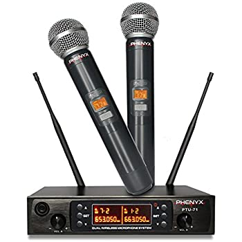 vocopro uhf 3200 uhf dual channel wireless microphone system musical instruments. Black Bedroom Furniture Sets. Home Design Ideas