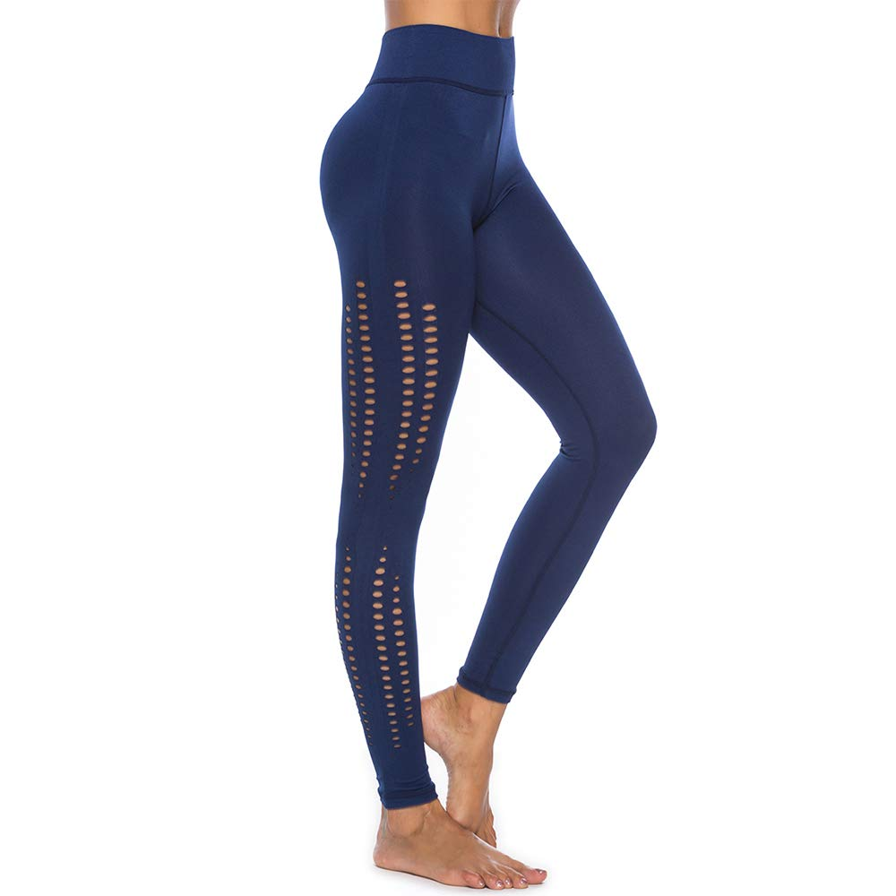 bluee Leggings Soft and Comfy Yoga Pants Women Power Stretch Workout Leggings Yoga High Waist Tummy Control Running Tights and Full Leggings