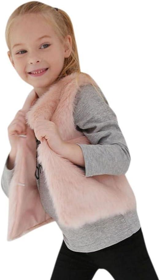 Fabal Baby Girls Faux Fur Vests Baby Girls Kids Vests Waistcoats Vest Outerwear