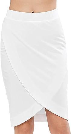 Faldas Mujer Verano Colores Sólidos Crossover Faldas Tubo Fashion ...