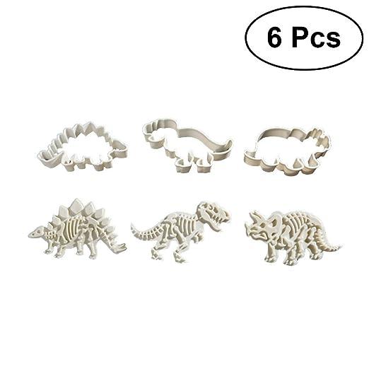 Bestonzon 6 Stucke Nette Dinosaurier Kuchenform Kunststoff Fondant