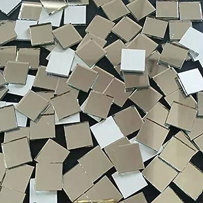 HEALLILY 200 piezas de vidrio peque/ño azulejos espejos piezas de vidrio espejo mosaico azulejos