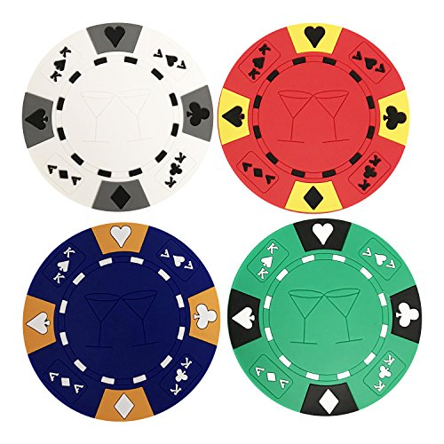 Poker Chip Coasters-Set Of Four by YH Poker ()