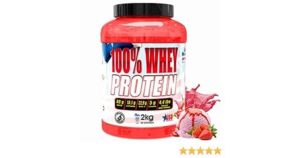 American Suplement 100% Whey Proteína en Polvo, Fresa - 2Kg.