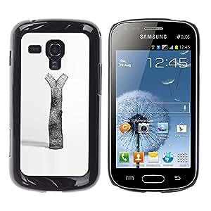 GOODTHINGS Funda Imagen Diseño Carcasa Tapa Trasera Negro Cover Skin Case para Samsung Galaxy S Duos S7562 - la deforestación naturaleza árbol amor arte simbólico