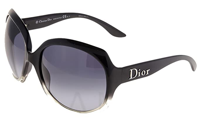 bd28283d49b9 CHRISTIAN DIOR Glossy 1 Oversized Black Crystal G2EHD Sunglasses Optyl   Amazon.co.uk  Clothing