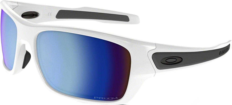 Oakley Boys' Turbine Xs Polarized Rectangular Sunglasses, Polished White, 57 mm by Oakley