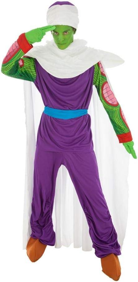 Disfraz Dragon Ball Piccolo 7tlg Verde púrpura - L: Amazon.es ...