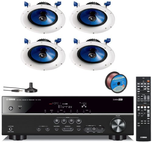 Yamaha 3D-Ready 5.1-Channel 500 Watts Digital Home Theater Audio Video Receiver with 4K pass-through, HD Audio Decoding, CINEMA DSP, Adaptive Dynamic Range Control, 40-Station Preset Tuning, Sleep Timer, Compressed Music Enhancer & USB Digital Port to Con by Yamaha