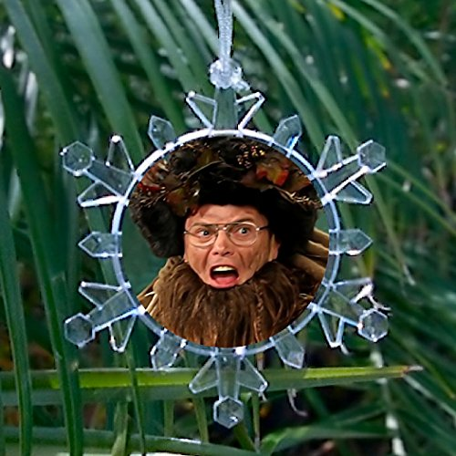 Official The Office Dwight Schrute Belsnickel Snowflake Blinking Holiday Christmas Tree ()