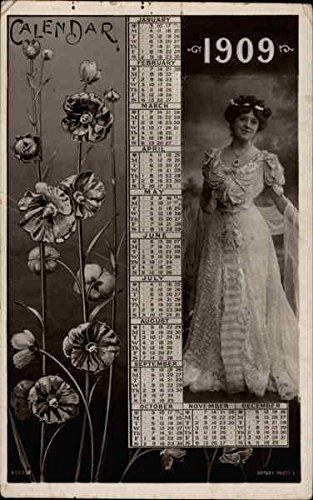 Calendar 1909 Calendars Original Vintage Postcard