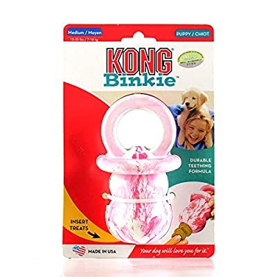 KONG Puppy Kong Toy, Small, Assorted Pink/Blue from Kong Company