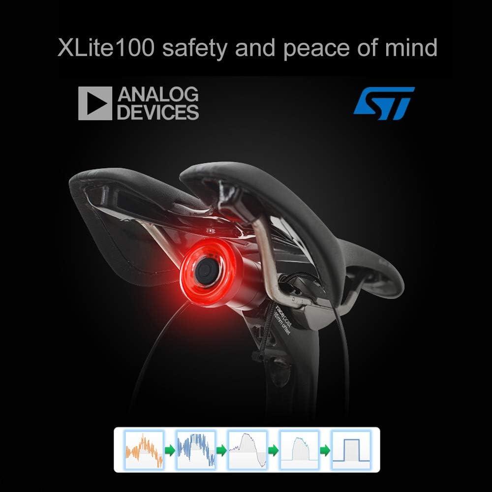 Dewanxin Xlite100 Intelligent Bike Queue lumi/ère USB Smart de Freins pour v/élo Cycle de feu arri/ère LED arri/ère arri/ère arri/ère lumi/ères Rouge Lampe
