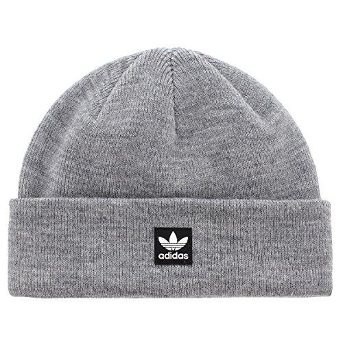 (Adidas Mens Originals Starboard Knit Beanie, Heather Grey, One)
