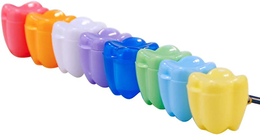 YeahiBaby 20 Units Dental Box Teeth Storage Box Childrens Teeth Box Plastic Storage Box Baby Toys Necklace