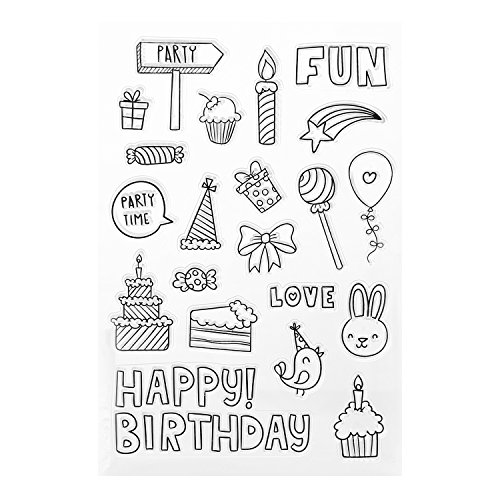 Clear Stamps Alphabet Lettering for Card Marking Happy Birthday Scrapbook