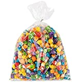 """Clear Plastic Cellophane Bags With twist ties Cello Bags For Candies Nuts Small Gifts (200, 8""""x 10"""")"""