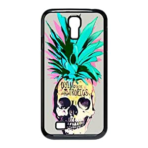 Samsung Galaxy S4 9500 Cell Phone Case Black Pineapple Skull