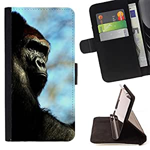 - Gorilla - - Style PU Leather Case Wallet Flip Stand Flap Closure Cover FOR Samsung Galaxy Core Prime - Devil Case -