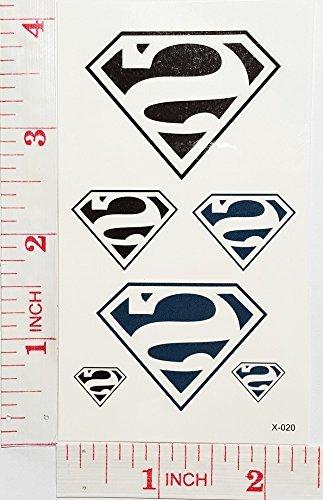 Amazon Com Superman Dc Comics Temporary Waterproof Tattoo Art Body