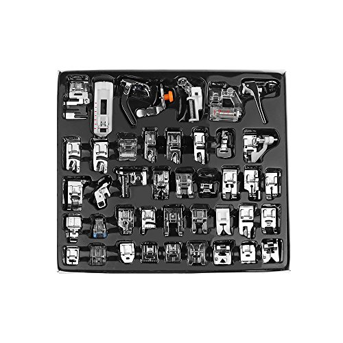 AOZBZ 42PCS Professional Domestic Sewing Machine Presser Foot Set for Brother Singer,Babylock, Janome, Elna, Toyota, New Home, Simplicity, Kenmore, and White Low Shank Sewing Machine (Feet Kit Sewing Machine Presser)