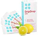 DripDrop ORS Gluten Free Hydration Powder, Lemon, 4 Count