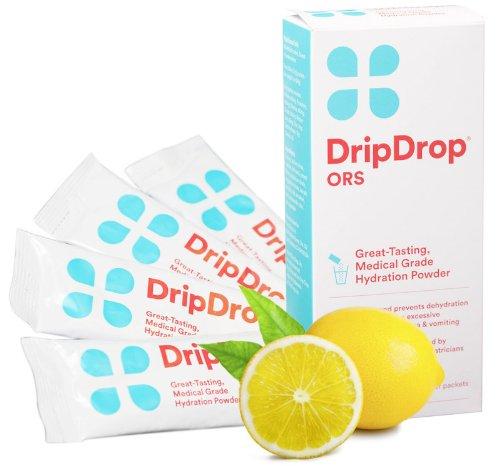 Drip Drop SRO 4 Paquets de poudre de citron