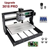 Upgrade Version (Easy to Install) CNC 3018 Pro GRBL Control DIY Mini CNC Machine, 3 Axis PCB Milling Machine, Wood Router Engraver with Offline Controller, with ER11 and 5mm Extension Rod