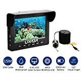 Lixada Fish Finder Camera Underwater Fishing Video Camera with 4.3in LCD Monito 1000TVL 15M Cable LED Night Vision Camera 165¡ã Wide Anglefor Ice,Lake and Boat Fishing
