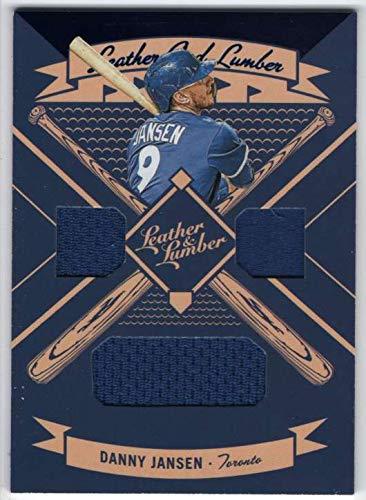 2019 Panini Leather & Lumber Triple Jersey Blue Foil #39 Danny Jansen Blue Jays Relic