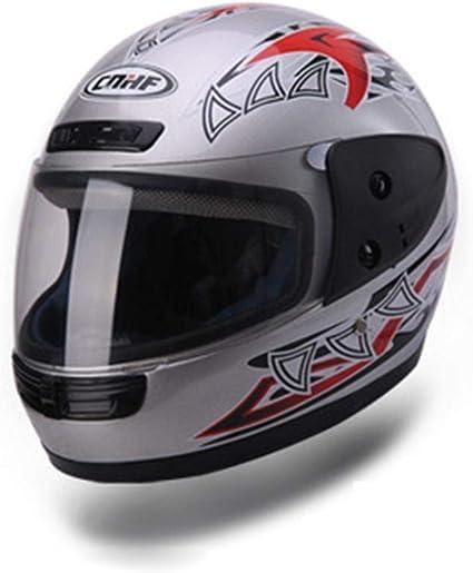 Amazon.es: Aopoy Hombre y Mujere Casco Integral de Moto, Motocross ...