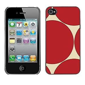 FECELL CITY // Duro Aluminio Pegatina PC Caso decorativo Funda Carcasa de Protección para Apple Iphone 4 / 4S // Pattern Sharp Repeating