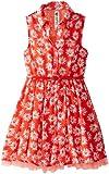 Beautees Big Girls' Daisy-Print Shirt Dress with Crinolin Hem