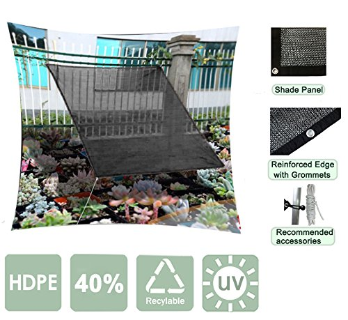 Agfabric Sunblock Shade Cloth With Grommets 40% UV 12x24ft Black for Plant Cover Greenhouse,Barn,Kennel, Pool, Pergola or Carport