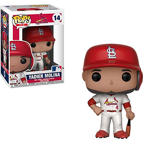 Yadier Molina [St. Louis Cardinals]: x Funko POP! MLB Vinyl Figure & 1 POP! Compatible PET Plastic Graphical Protector Bundle [#014 / 30241 - B] ()