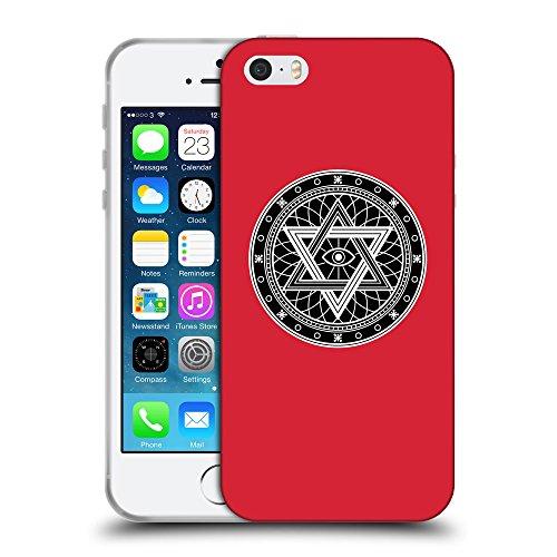 GoGoMobile Coque de Protection TPU Silicone Case pour // Q08340601 Mystique occulte 13 Alizarine // Apple iPhone 5 5S 5G SE