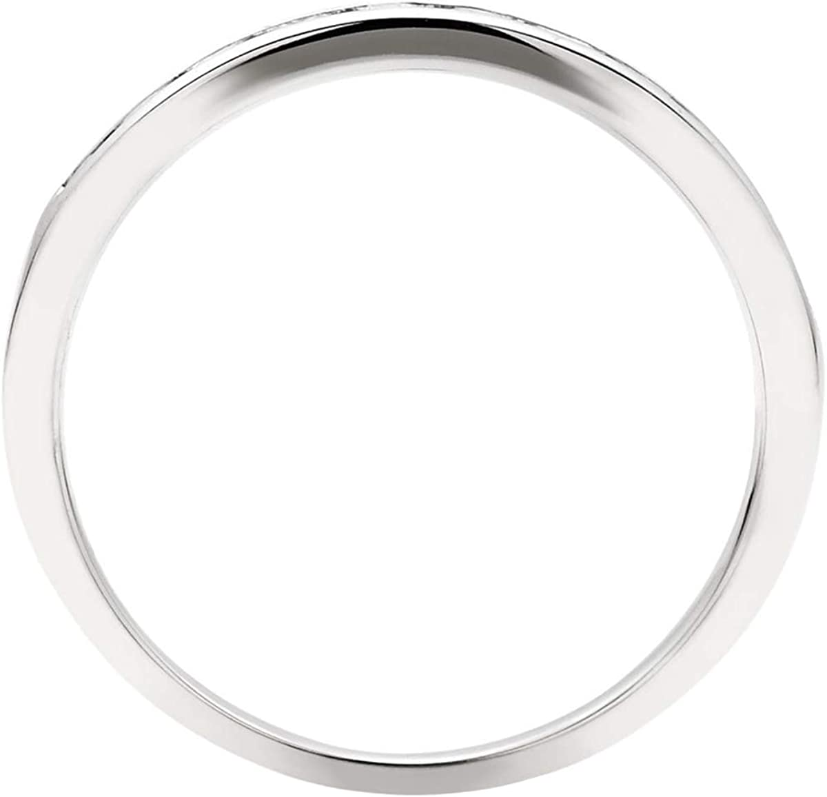 0.25 Ct Round Cut Simulated Diamond Channnel Set Wedding Band In Solid 10K White Gold
