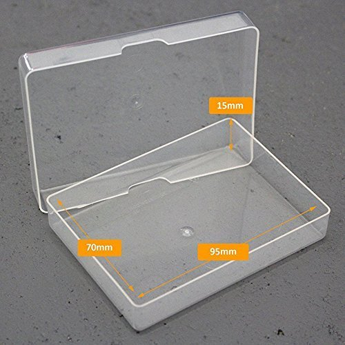 Clear Plastic Playing Card Storage Boxes (pack of 50) Made in the UK by JP GAMES LTD